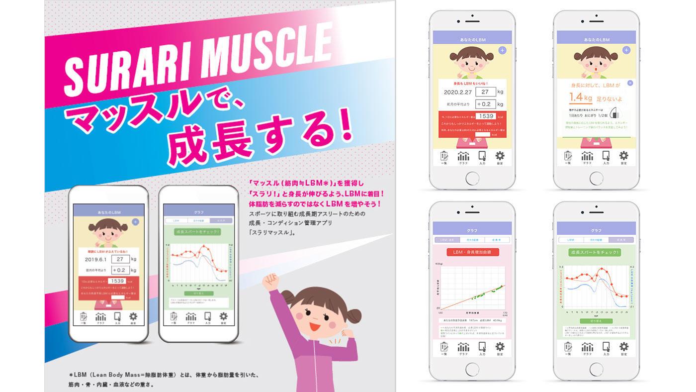 女子アスリートの成長・コンディション管理アプリ「スラリマッスル」をリリース 順天堂大学
