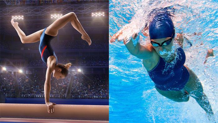 体操と水泳の女性アスリート、どちらが健康的? 栄養状態と心血管リスク因子を比較